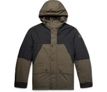 + Sophnet Martock Colour-block Shell Hooded Down Jacket - Army green