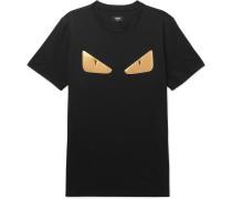 Slim-fit Appliquéd Cotton T-shirt