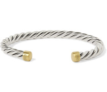 Cable Sterling Silver and 18-Karat Gold Cuff
