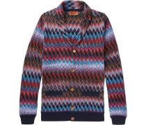 Shawl-collar Cotton And Wool-blend Cardigan