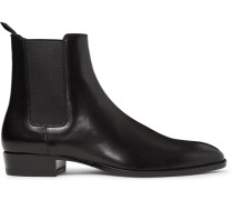 Polished-leather Chelsea Boots - Black