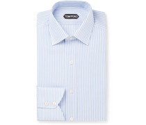 Slim-fit Striped Textured-cotton Shirt