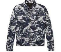 Appliquéd Printed Cotton-twill Blouson Jacket - Midnight blue