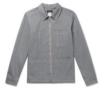 Striped Cotton Chore Jacket
