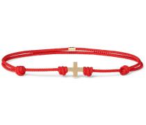 Cord And 14-karat Gold Bracelet