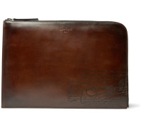 Nino Scritto Leather Pouch - Brown