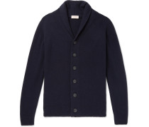 Jakob Shawl-collar Wool And Cashmere-blend Cardigan - Midnight blue