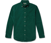 Slim-fit Button-down Collar Cotton-corduroy Shirt - Emerald