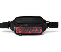 Ut3 Logo-print Nylon And Mesh Belt Bag - Black