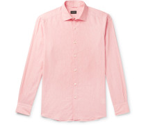 Slub Linen and Cotton-Blend Shirt