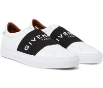 Urban Street Leather Slip-on Sneakers - White