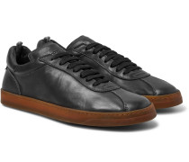 Karma Washed-leather Sneakers - Black