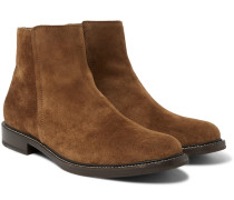 Suede Chelsea Boots - Light brown