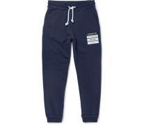 Slim-Fit Tapered Appliquéd Loopback Cotton-Jersey Sweatpants