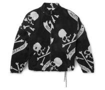 Logo-Jacquard Cotton-Terry Bomber Jacket