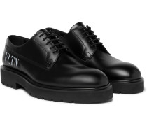 Valentino Garavani Logo-print Leather Derby Shoes
