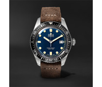 Divers Sixty-Five 42mm Stainless Steel and Canvas Watch, Ref. No. 01 733 7720 4055-07 5 21 28FC
