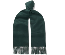 Fringed Checked Cashmere Scarf