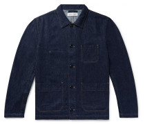Indigo-Dyed Nep Denim Overshirt