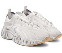 Rockaway Distressed Suede Sneakers - White