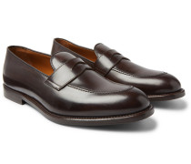 Leather Penny Loafers - Dark brown