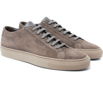 Achilles Low Leather-trimmed Suede Sneakers