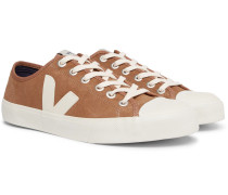 Wata Rubber-trimmed Suede Sneakers - Brown