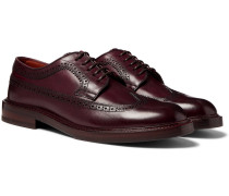 Polished-leather Longwing Brogues - Merlot