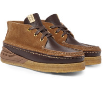 Canoe Moc Ii Cross-grain Leather And Suede Boots - Brown