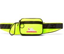 Logo-Appliquéd Neon Shell Belt Bag