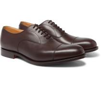 Dubai Cap-toe Leather Oxford Shoes - Brown