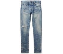 The Cast 2 Skinny-Fit Distressed Stretch-Denim Jeans