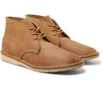 Weekender Rough-out Leather Chukka Boots - Beige