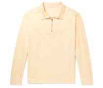 Cotton and Silk-Blend Half-Zip Shirt