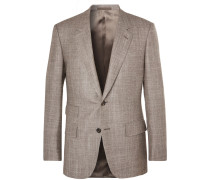 Harry's Brown Mélange Wool, Silk And Cashmere-blend Suit Jacket