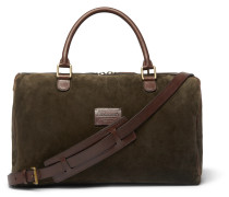 Small Suede And Full-grain Leather Holdall