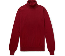 Slim-fit Cashmere Rollneck Sweater - Red