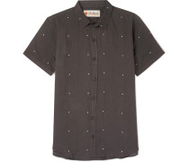 Printed Linen And Cotton-blend Shirt
