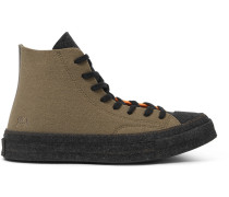 + Jw Anderson 1970s Chuck Taylor All Star Colour-block Felt High-top Sneakers - Orange