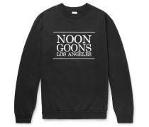 Logo-printed Fleece-back Cotton-jersey Sweatshirt