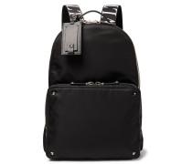 Valentino Garavani Leather-Trimmed Nylon Backpack
