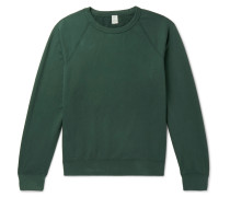 Fleece-back Supima Cotton-jersey Sweatshirt - Green