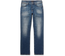 Grim Tim Slim-fit Organic Stretch-denim Jeans - Mid denim