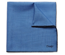 Wool And Silk-blend Pocket Square - Blue
