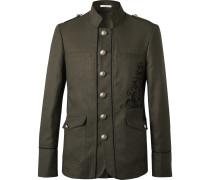 Embroidered Linen and Cotton-Blend Twill Blazer