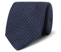 8cm Wool And Silk-blend Tie - Storm blue