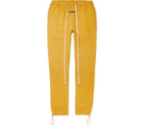 Slim-Fit Tapered Mélange Loopback Cotton-Blend Jersey Sweatpants
