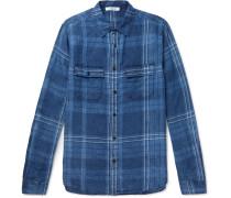 Checked Linen Shirt - Blue