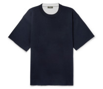 Contrast-tipped Mulberry Silk-blend Sweater