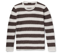 Striped Linen And Cotton-blend Sweater